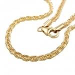 fancy bracelet, 3mm 45cm, 9K GOLD