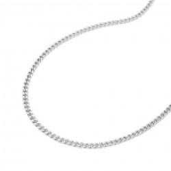 Thin Curb Chain, Diamond Cut, Silver 925, 50CM