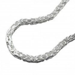 NECKLACE, BYZANTINE CHAIN, 3MM SQUARE, SILVER 925, 60CM