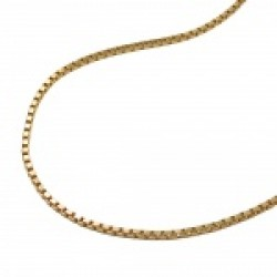 necklace, box chain, gold plated