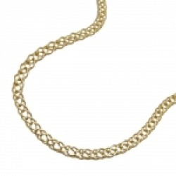 necklace 45cm twin curb chain 14K GOLD