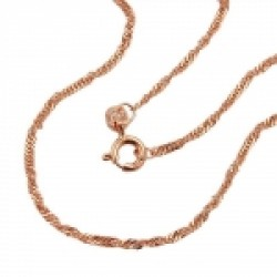 necklace, Singapore, 50cm, 14K Redgold