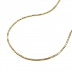 chain, snake, 5-edge, 40cm, 14K GOLD