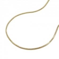 Kette 0,7mm Schlange 5-kant 14Kt GOLD 40cm