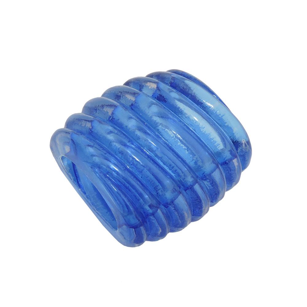Tuchring 35x34x23mm Spirale Kunststoff blau-transparent glänzend