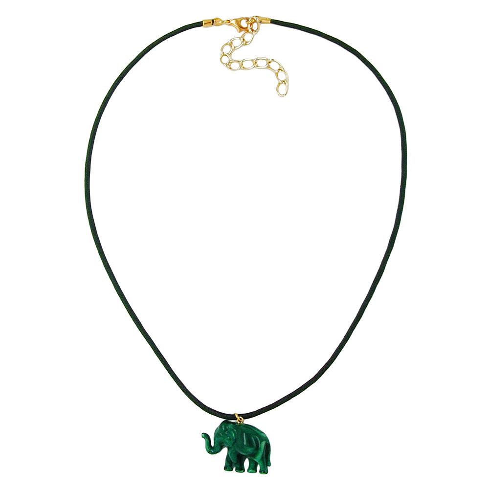 Kette-Elefant-mit-Kordel-gruenton
