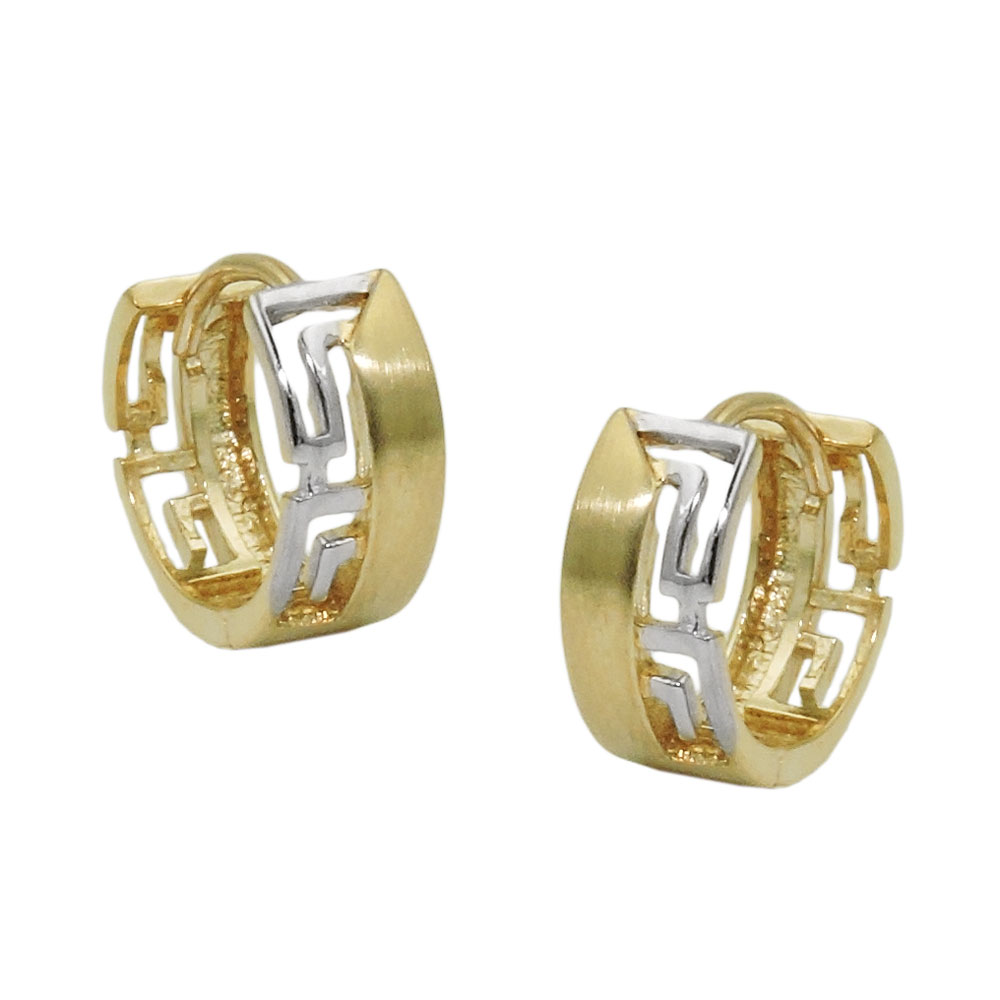 Creole 12x5mm Klappscharnier bicolor rhodiniert 9Kt GOLD