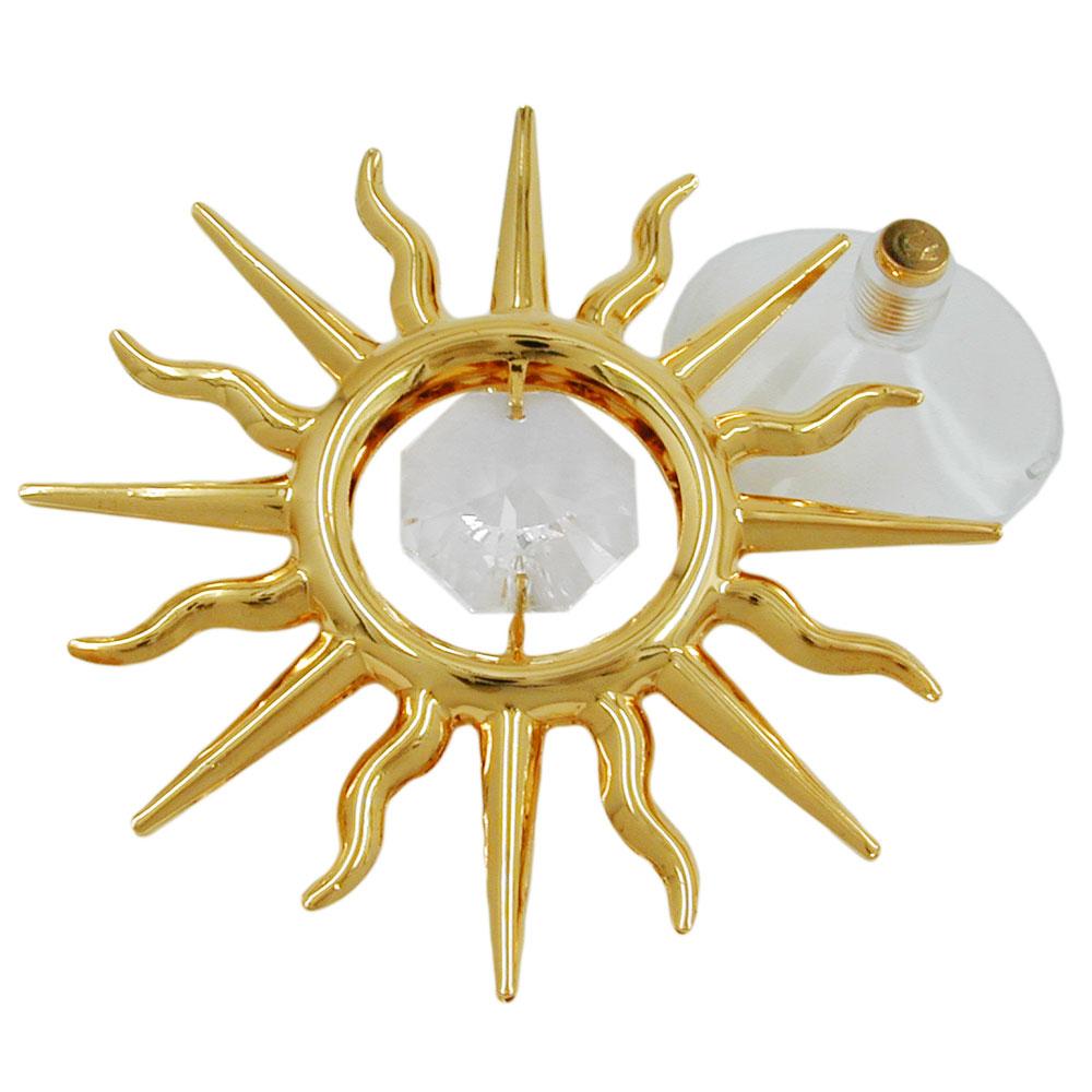 Suncatcher 75mm Sonne mit Glas-Stein