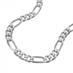 Armband 5mm Figarokette flach Silber 925 21cm