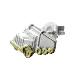 Stecker 11x7mm Single-Truck bicolor Silber 925