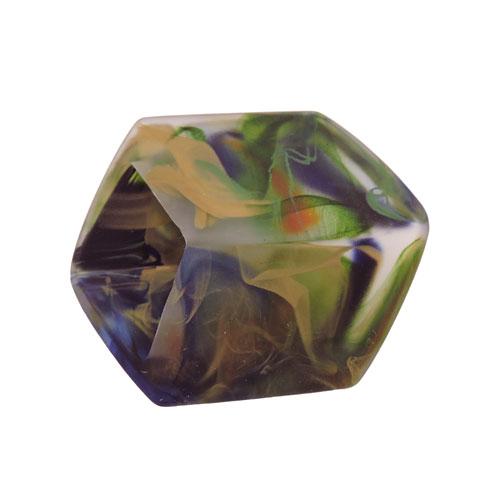 grün-metallic Tuchring Sechseck