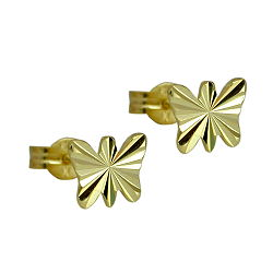 Ohrstecker diamantiert GOLD